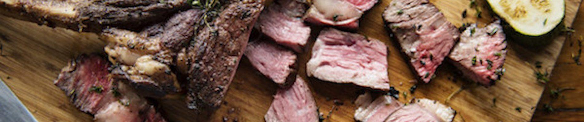 Cutted Beef Steak Cuisine Concept